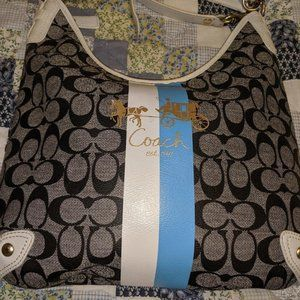 Coach Signature Hobo style bag . Great colors